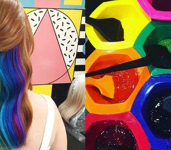 Espia só o cabelo arco-íris que está quebrando a internet!