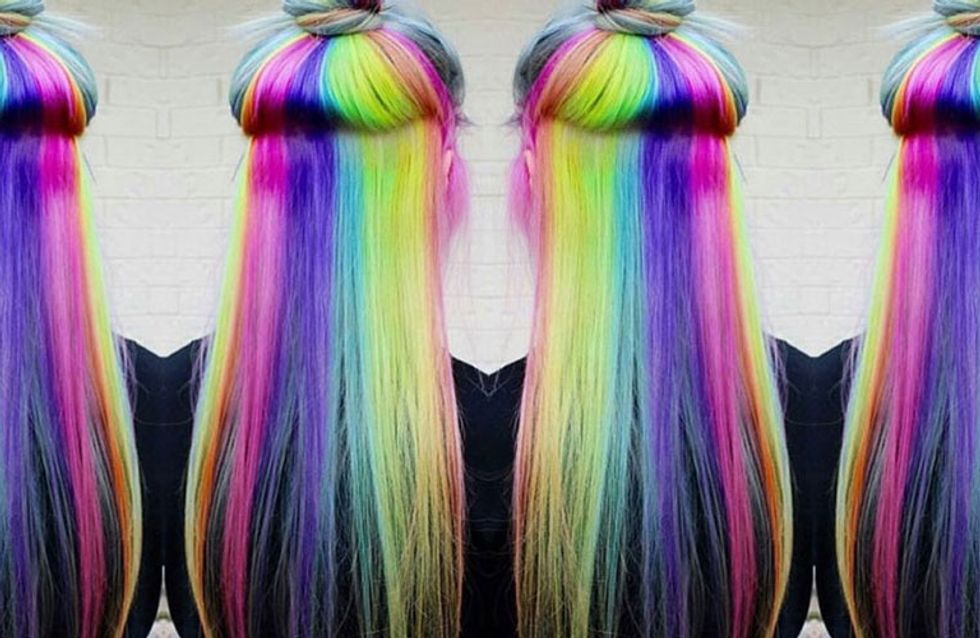 Hidden-Rainbow Hair Is Here To Transform You Into A Real-Life Unicorn
