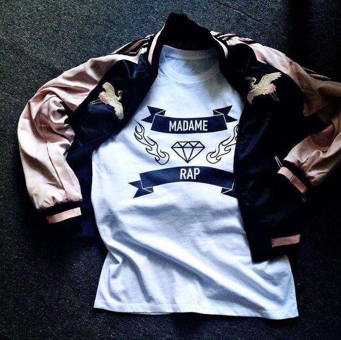 La collection de tshirts de Madame Rap