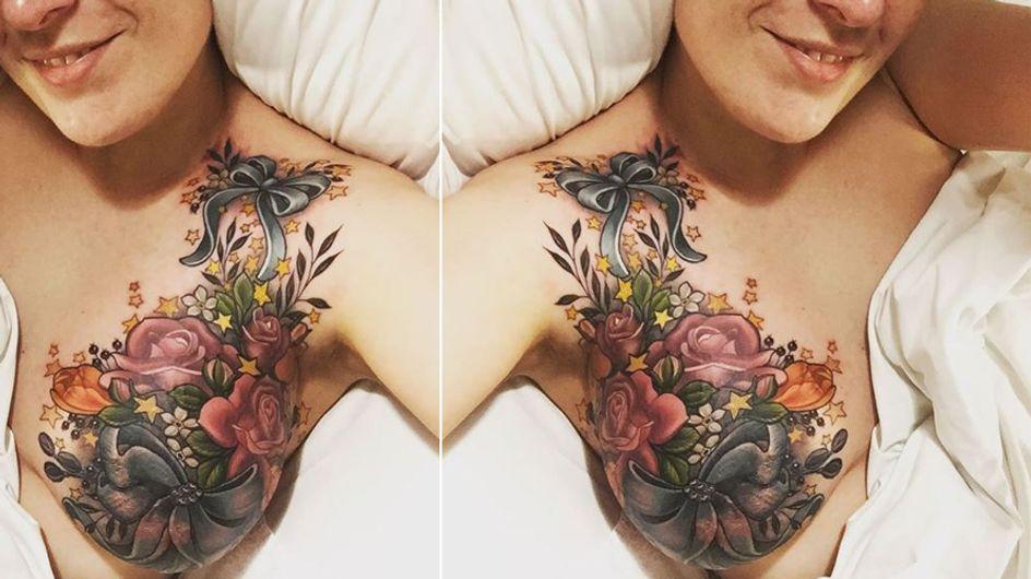 Sie verlor einen Teil ihrer Brust an den Krebs - doch ein Tattoo schenkt ihr neue Hoffnung