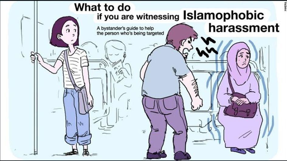 Una ilustradora gráfica crea una guía rápida para luchar contra la islamofobia