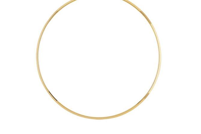 Le collier rigide en plaqué, 35 euros sur le site Maty