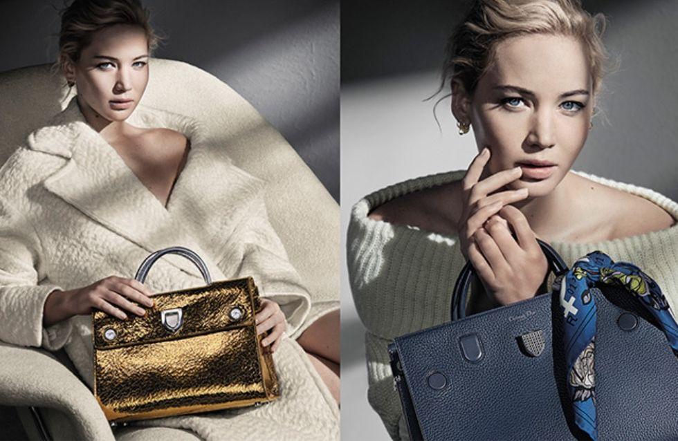 Jennifer Lawrence, beauté glaciale dans la nouvelle campagne Dior (Photos)