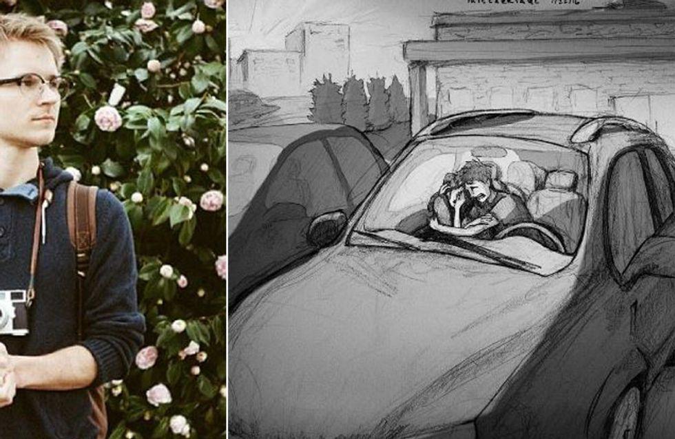 Dieser Vater teilt den Schmerz über die Fehlgeburt seiner Frau in einer bewegenden Zeichnung