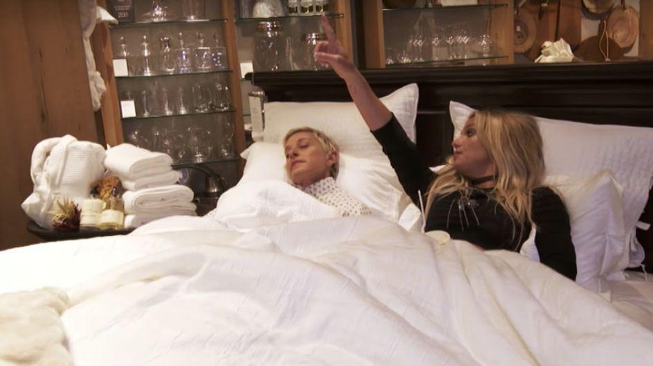 WATCH: Britney Spears and Ellen DeGeneres Wreak Havoc In An LA Shopping Centre