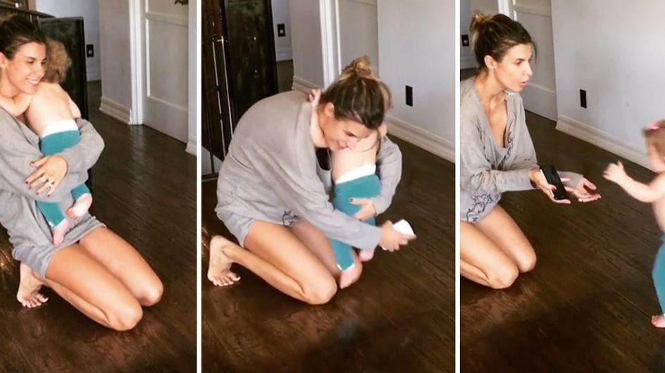 Elisabetta Canalis: i primi passi di Skyler Eva. Ecco le dolcissime immagini!