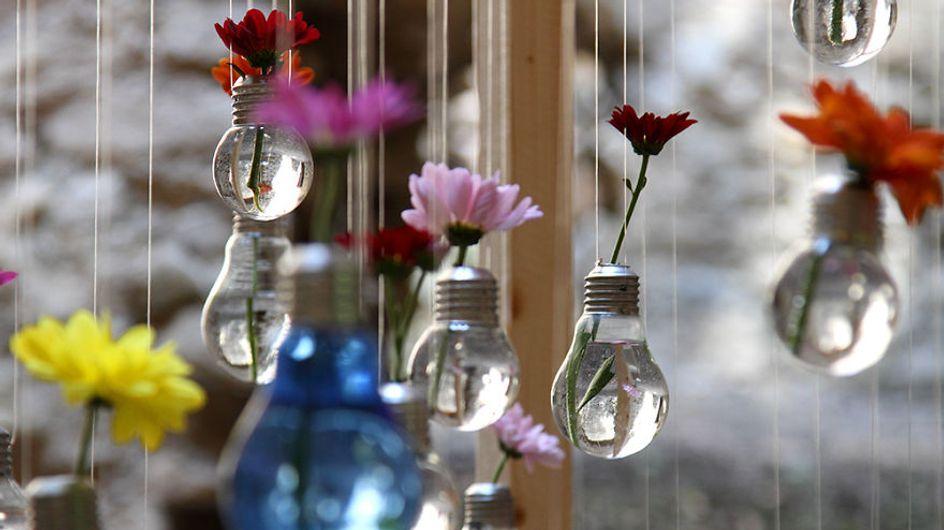 33 ideas DIY para reciclar bombillas antiguas