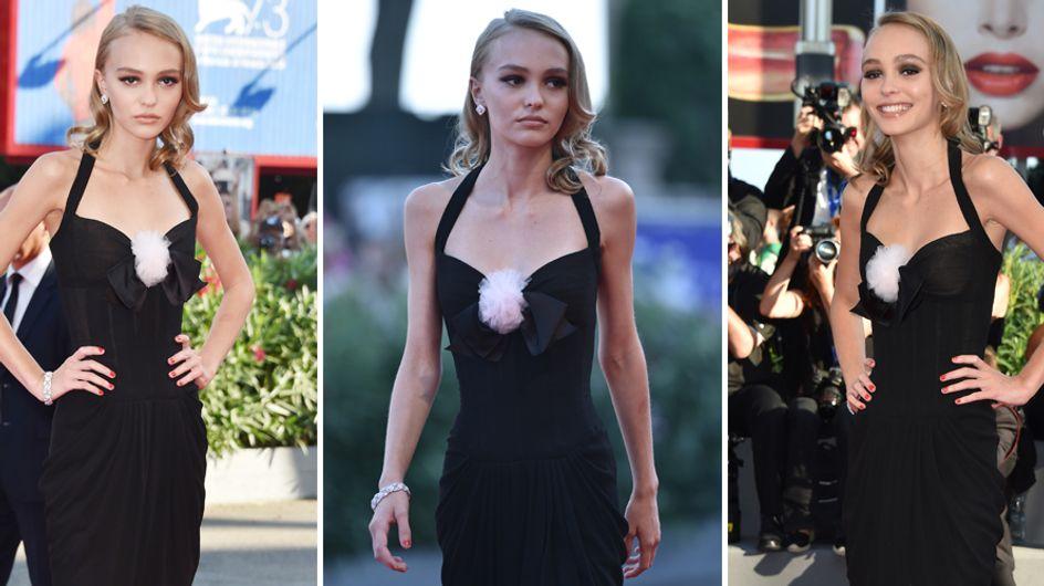 La figlia di Johnny Depp magrissima sul red carpet. Non è un po' troppo, Lily Rose?