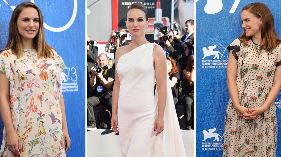 Natalie Portman: pancione vedo/non vedo sul red carpet. L'attrice è incinta e lo annuncia con garbo a Venezia