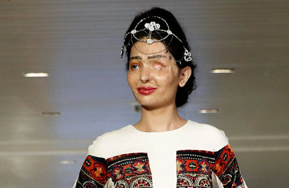 Esta modelo india, víctima de un ataque con ácido, triunfa en la pasarela de Nueva York