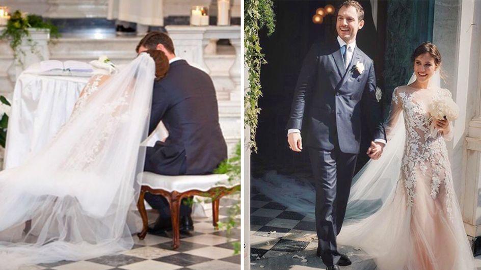 Gabriella Pession sposa il suo Richard. Le foto più belle del matrimonio (e dell'abito)!