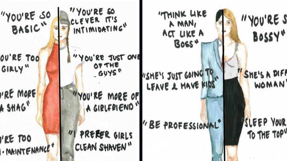 Diese Illustrationen zeigen, mit welchen krassen Vorurteilen Frauen im Alltag konfrontiert werden