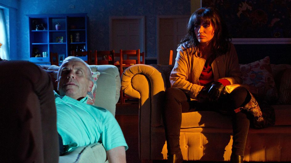 Hollyoaks 22/9 - Eva Watches Jack Sleeping - Armed With A Gun
