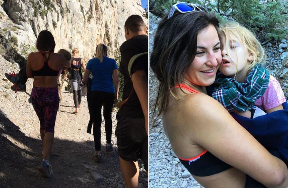 Unglaublich, was diese Kampfsportlerin für ein kleines Mädchen mit gebrochenem Arm tut