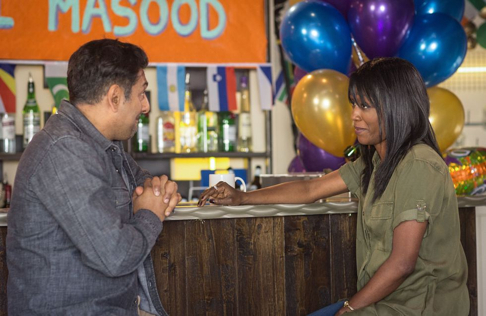 Eastenders 23/9 - Masood Learns Of Denise's Troubles