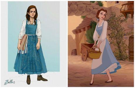 La nouvelle robe de Belle