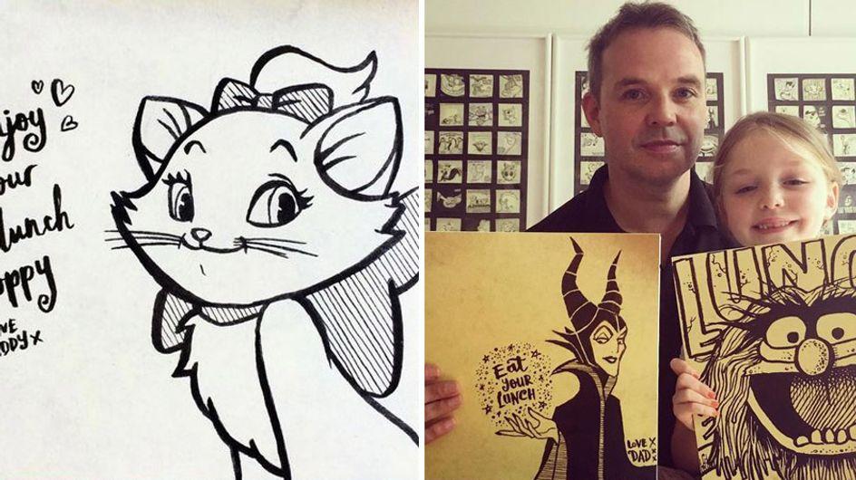 Supersüß! Dieser Papa versteckt jeden Tag kleine Kunstwerke in der Brotdose seiner Tochter