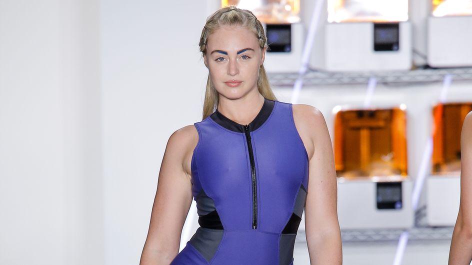 Un premier défilé réussi pour Iskra Lawrence, mannequin plus size, à New York (Photos)