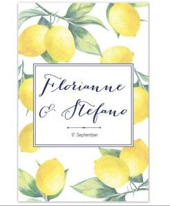 Zitronige Hochzeitseinladungen von Papierhimmel, 2,30 € pro Stück