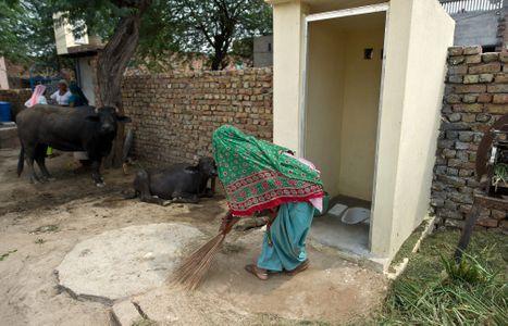 Une femme du village de Mewat