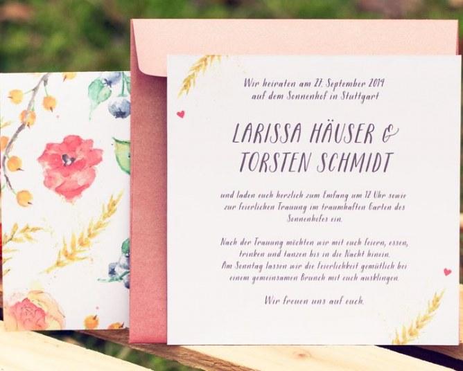 Hochzeitseinladungen von Grüne Hochzeit, Preise auf Anfrage