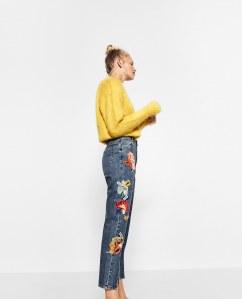 Jeans mit Patches von Zara, 49,95 €