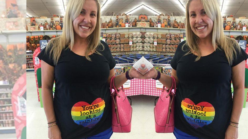 Diese werdende Mama trägt einen Regenbogen auf dem Bauch - und das aus einem tragischen Grund