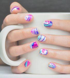 Qué son las water marble nails y cómo hacerte con ellas