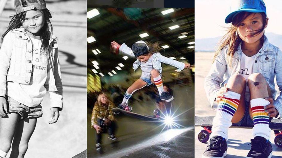 Nicht nur was für Jungs: Dieses 8-jährige Mädchen stellt selbst Profi-Skater in den Schatten