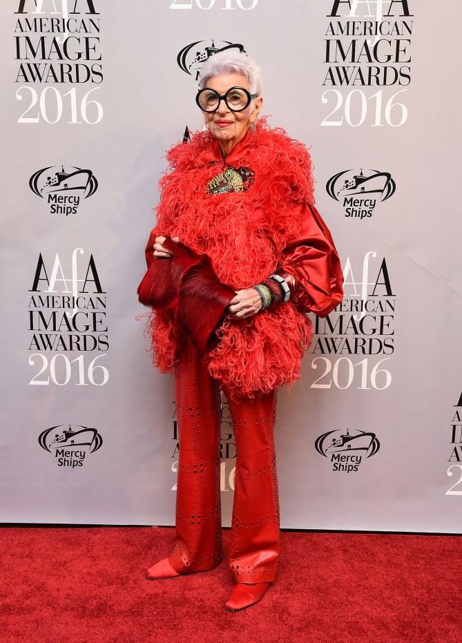 Iris Apfel, mamie mannequin