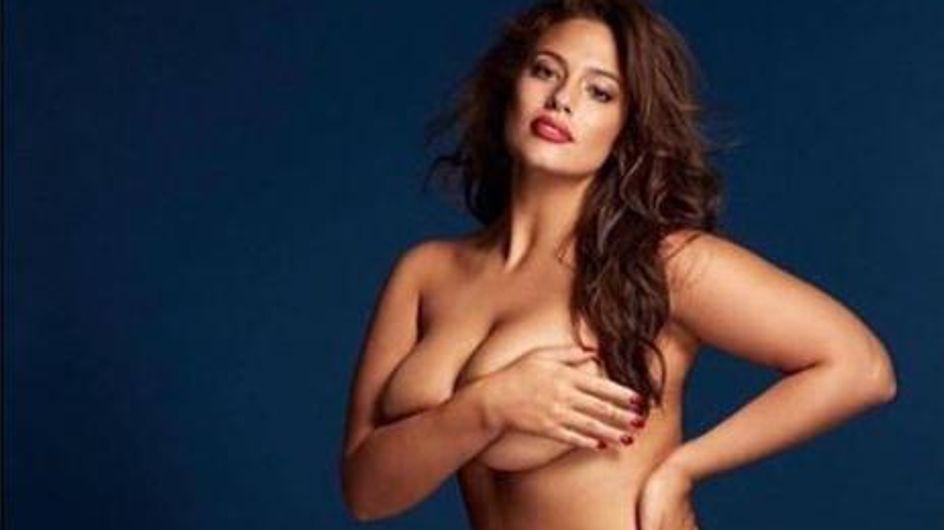 Ashley Graham prend la pose nue pour Grazia UK (Photos)