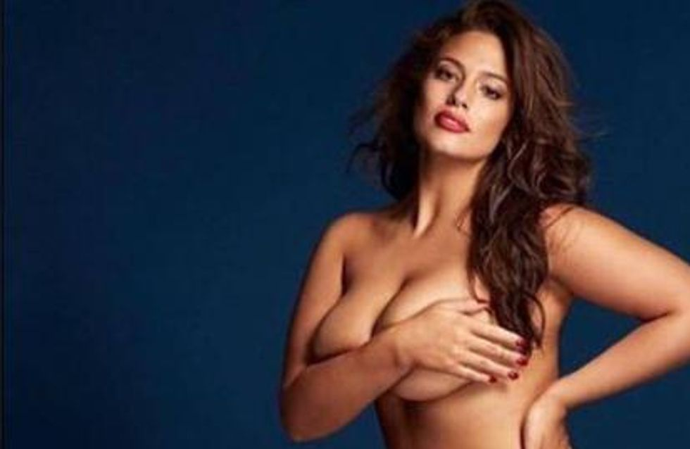 Ashley Graham prend la pose nue pour Grazia UK (Photos)