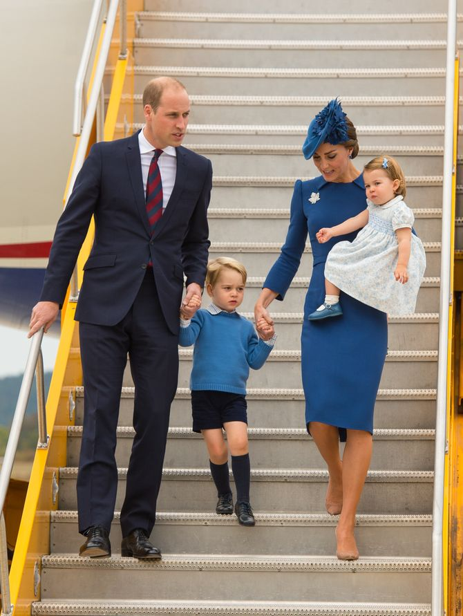 Le prince William, Kate Middleton et leurs enfants le 24 septembre 2016