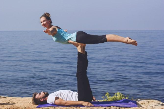Sport für Paare: Yoga