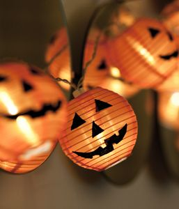 Halloween-Deko: Kürbis-Laternen