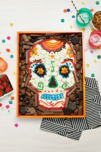 Totenkopf-Süßigkeiten-Platte