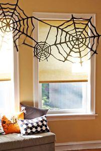 Halloween DIY-Deko: Spinnweben