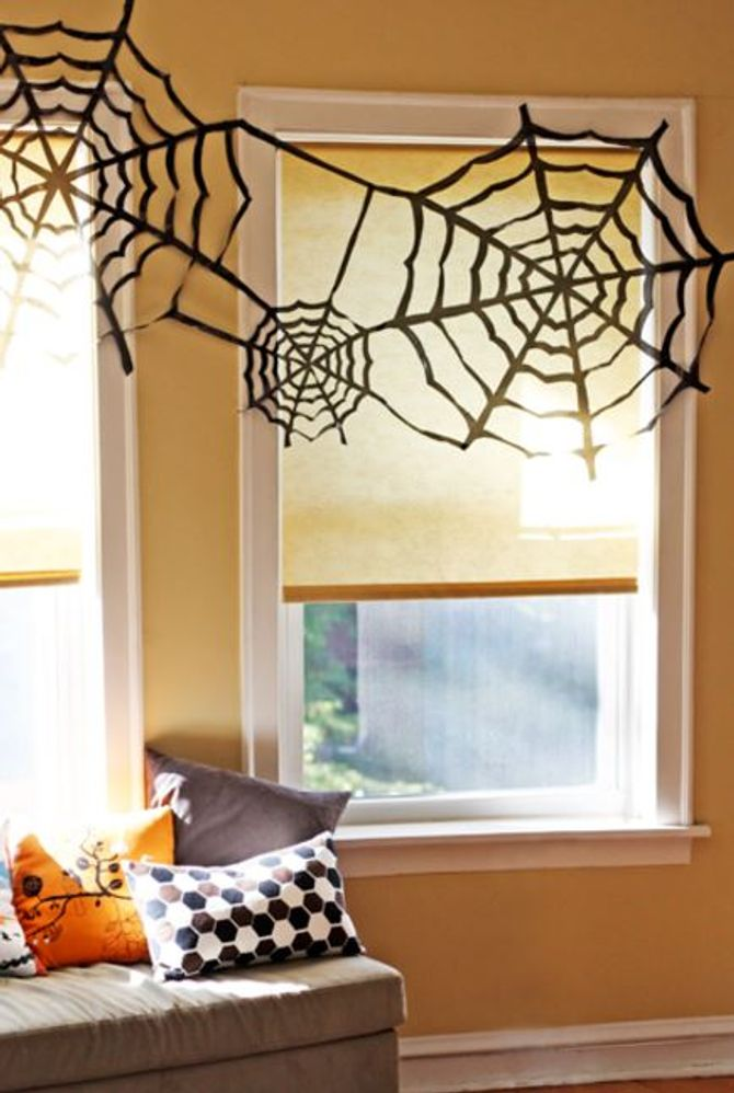 Halloween DIY-Deko: Spinnweben