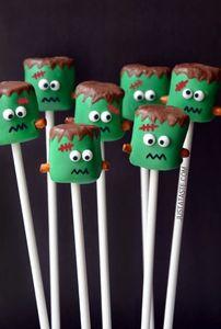 DIY-Halloween-Deko: Marshmallow-Monster