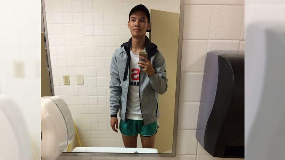 DAS ist wahre Freundschaft: Er trägt Hot Pants, damit seine Freundin zur Klausur kann