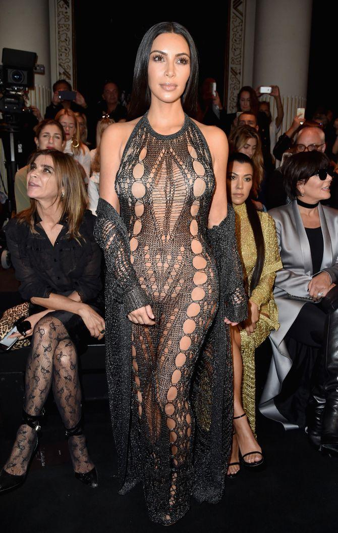 Kim Kardashian à la Fashion Week