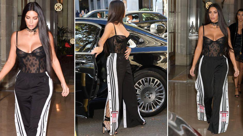 Kim Kardashian con chándal de stripper, peor look de la semana
