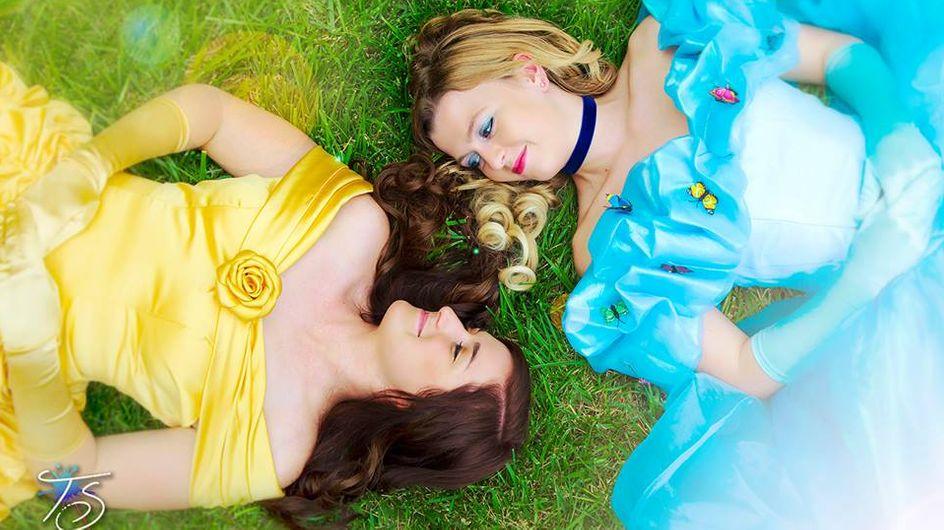 Ces deux femmes se transforment en princesses Disney pour leurs fiançailles et on les trouve magnifiques (Photos)