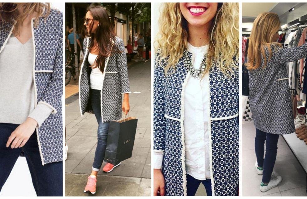 Zara envahit les rues de Londres avec un manteau que tout le monde s'arrache (Photos)