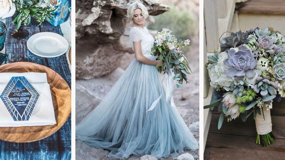 """Ideas originales para el """"algo azul"""" de una novia"""