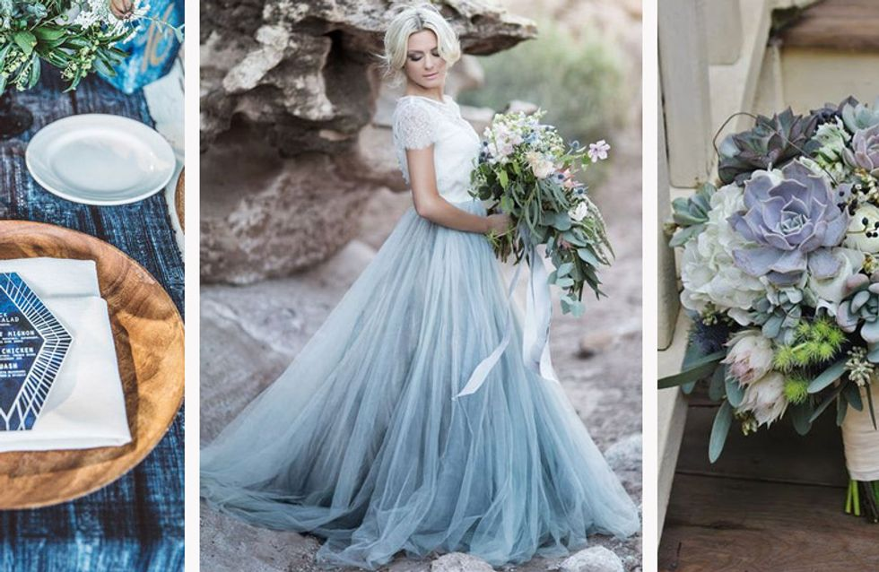 Ideas originales para el algo azul de una novia