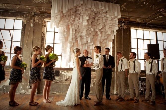 Casamento com fitas