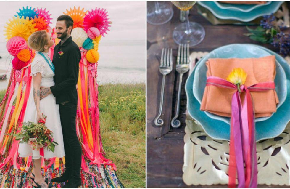 Decore sua festa de casamento com fitas!
