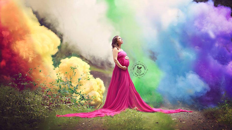Nach 6 Fehlgeburten feiert diese werdende Mutter ihr Regenbogen-Baby auf besondere Art