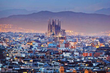 Skyline de Barcelona com a Catedral da Sagrada Família